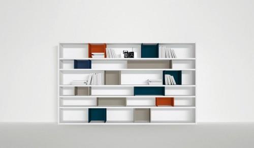 jesse, libreria, libreria open wiew, libreria laccata, libreria domus arredi