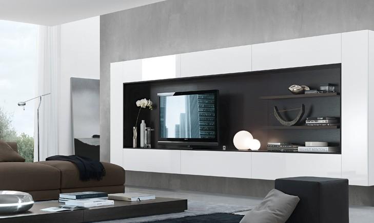 , bianco lucido, bianco laccato, jesse, jesse mobili, jesse soggiorno ...
