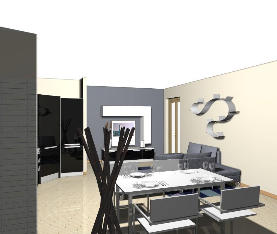 zona living: cucina e soggiorno per un ambiente unico e ...