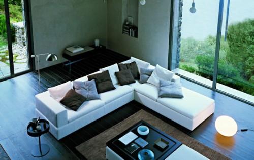 Terence il divano firmato jesse il divano con la - Divano al centro della stanza ...
