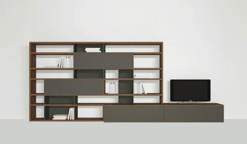 jesse, jesse mobili, jesse libreria, jesse soggiorno, libreria, sala, soggiorno, open view
