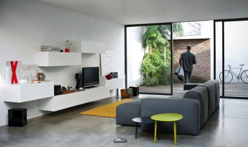 open view, soggiorno, sistema, jesse, domus arredi lissone,