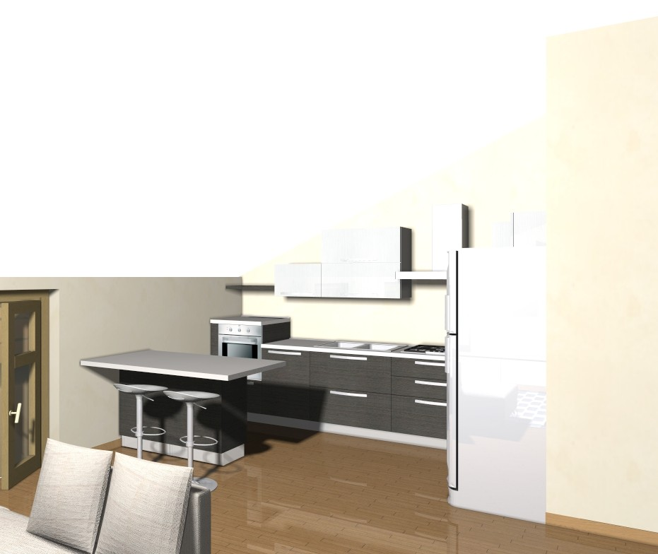 Cucina e salotto unico ambiente idee per il design della - Cucina ambiente unico ...